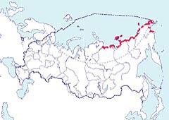 Карта обитания американской казарки